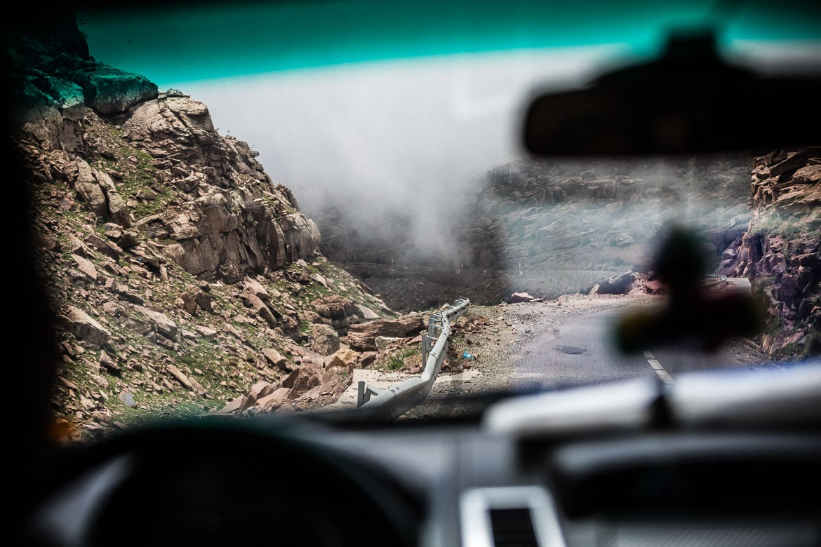 Mountain bike vacation Morocco in photos - heading into the clouds