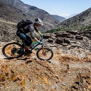 Mountain bike tour Morocco, riding in the High Atlas