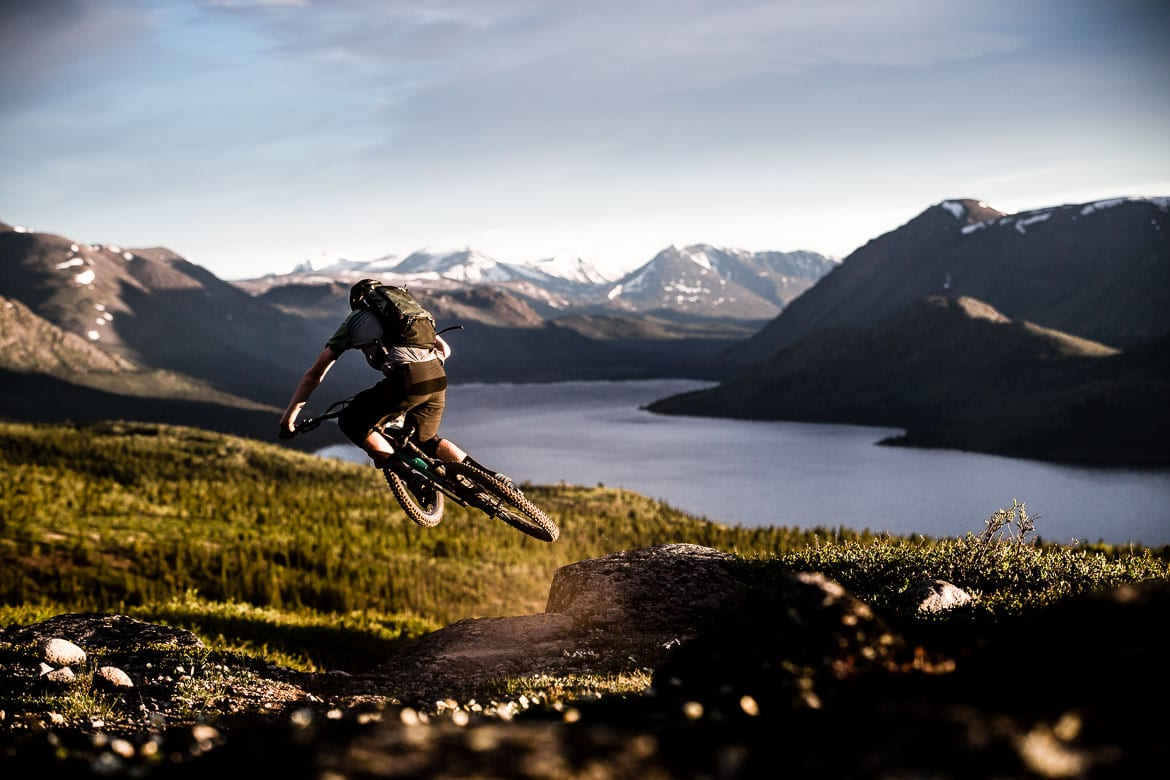 Scotty Laughland jumping near Whitehorse in the Yukon, selected as part of our Top 10 MTB photos blog. One of our highlights of 2018.