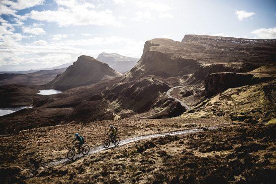 Riding through the wild landscapes of a mountain bike tour Torridon and Skye.