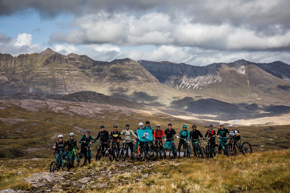 The riders of the Yeti Tribe Scotland.