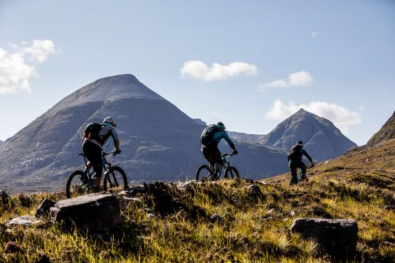 Riding in the Scottish sun during the Yeti Tribe Scotland.