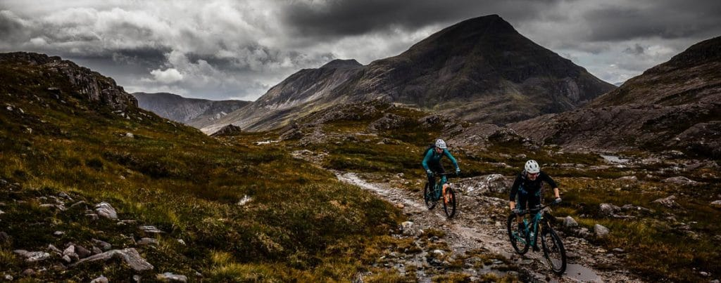 Riding in Torridon during the Yeti Tribe Scotland. We are delighted with our partnership with Yeti Cycles