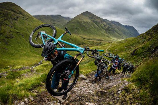 Hike a biking on a Mountain bike tour Torridon and Skye