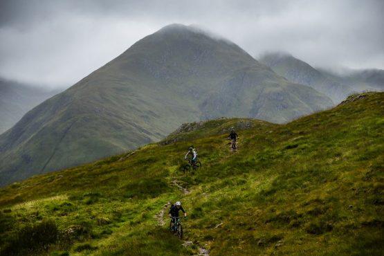 Riding in Morvich during a Mountain bike tour Torridon and Skye