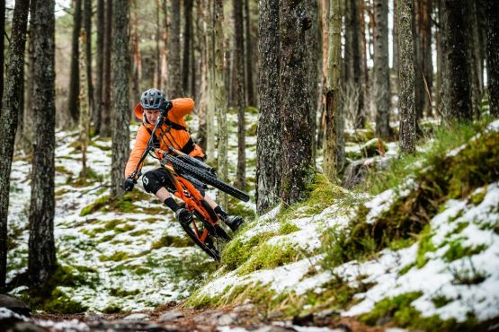 Ride with Scotty Laughland through Scottish forests
