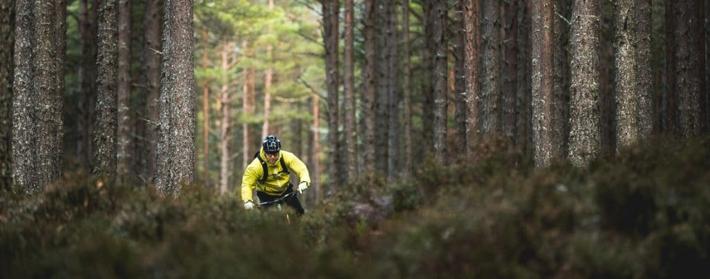 H+I Adventures desktop homepage image local Aviemore mountain bike guide Chris Gibbs