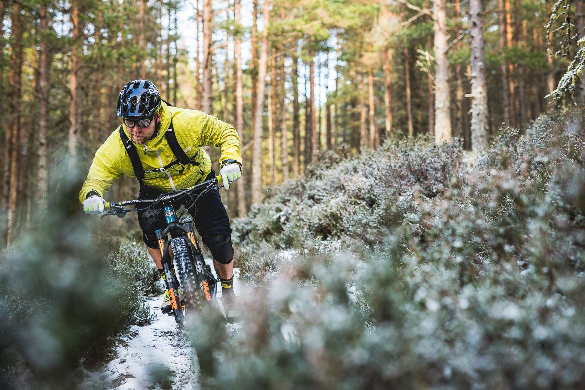 Riding the Canadian trail with local Aviemore mountain bike guide Chris Gibbs