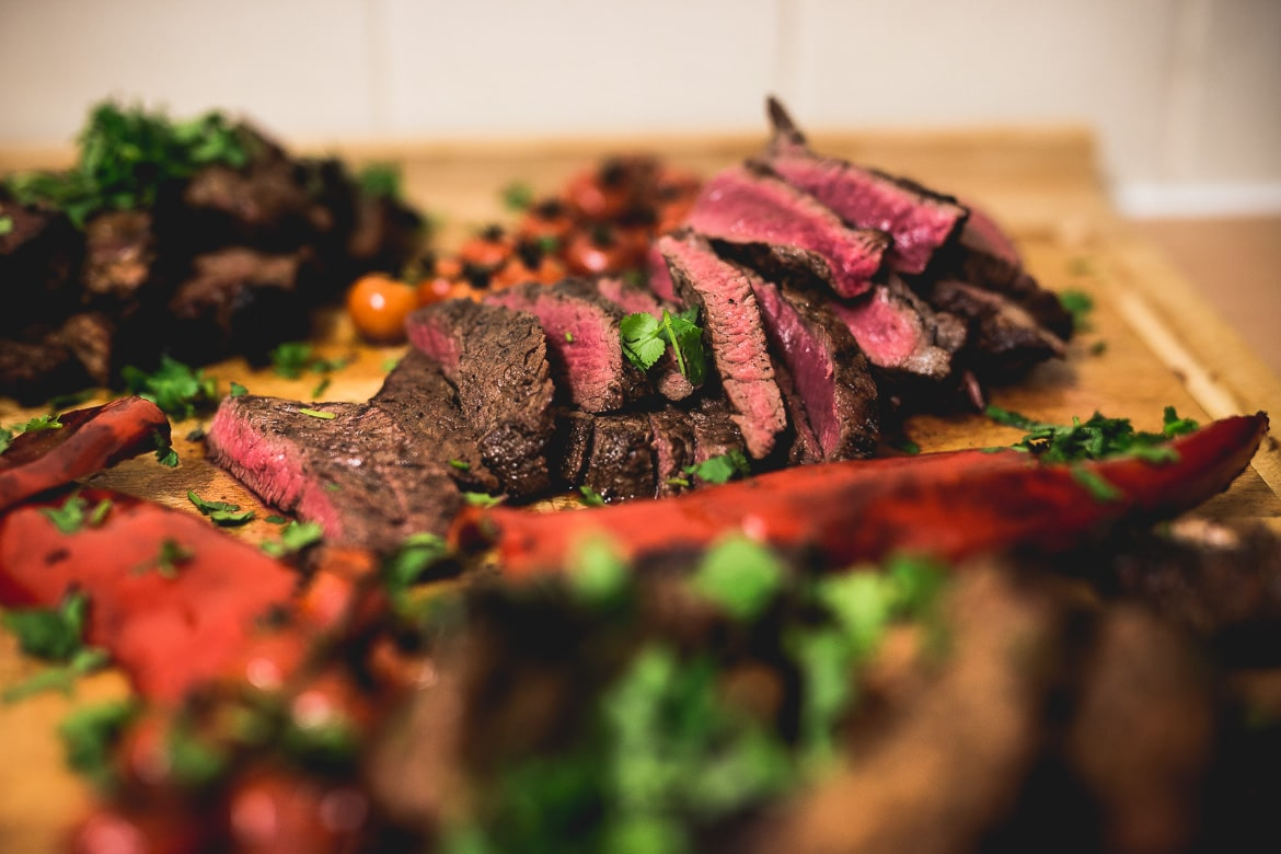 local Aviemore mountain bike guide Chris Gibbs knows how to cook a steak.