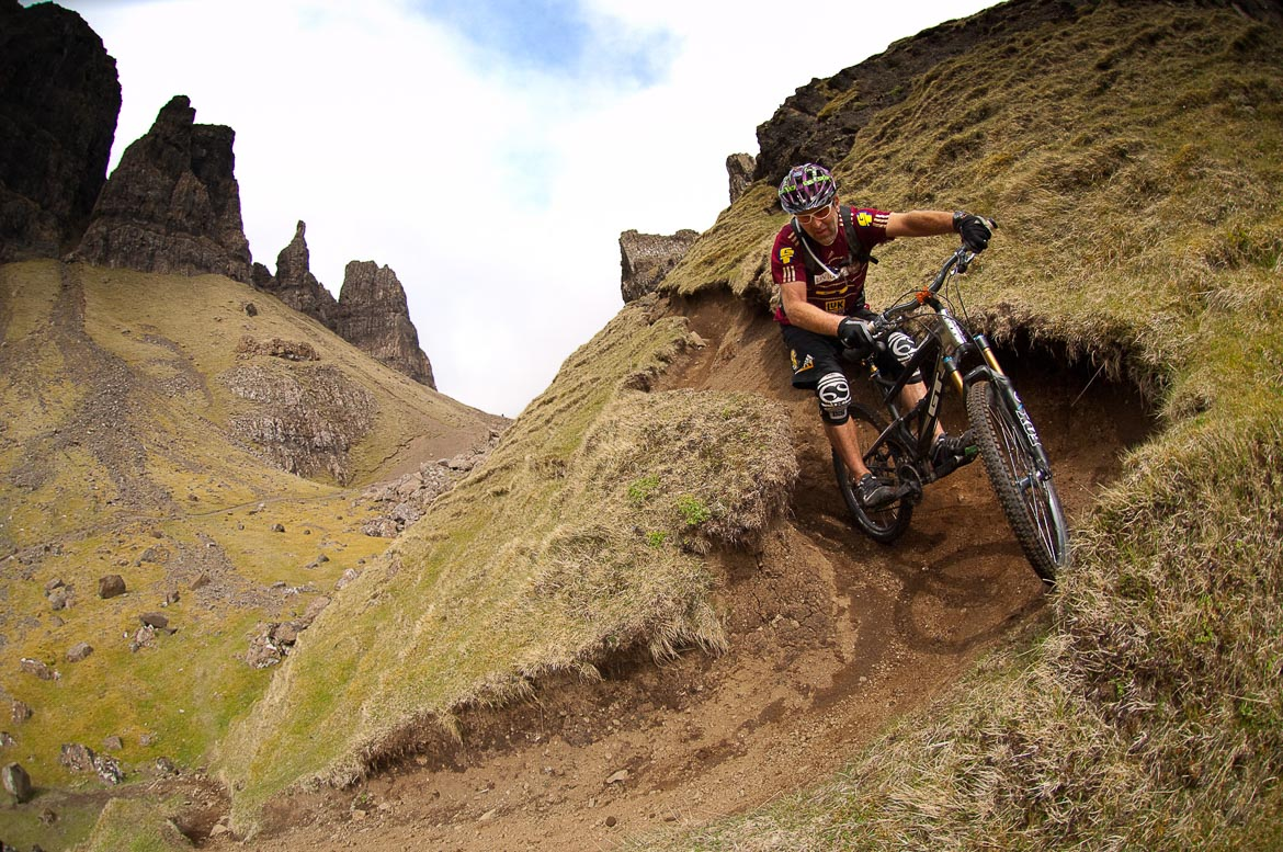 Riding on the Quiraing before Heli-Biking with Danny MacAskill, Steve Peat, Hans Rey in the Torridon mountains and Isle of Skye