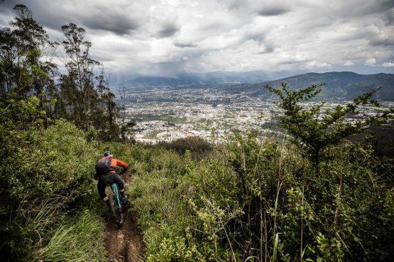 Jungle to city trails on our mountain bike tour Ecuador
