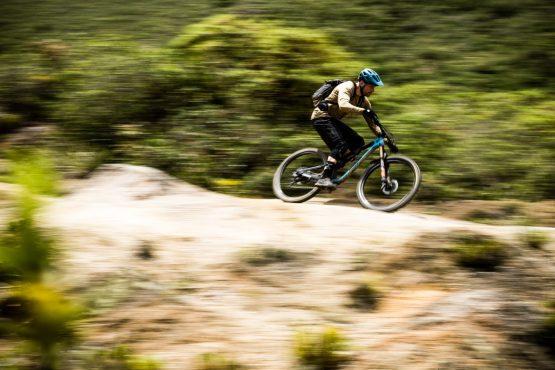 Fast desert trails on our mountain bike tour Ecuador