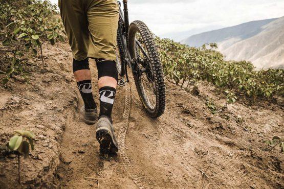Uphill trails on our mountain bike tour Ecuador