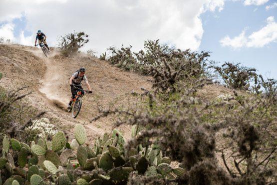 Riding through the Chota desert on our mountain bike tour Ecuador