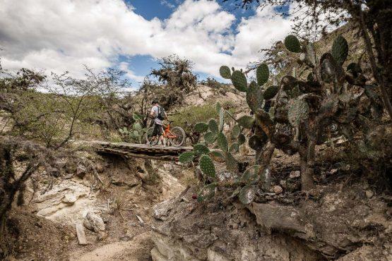 Desert riding on our mountain bike tour Ecuador