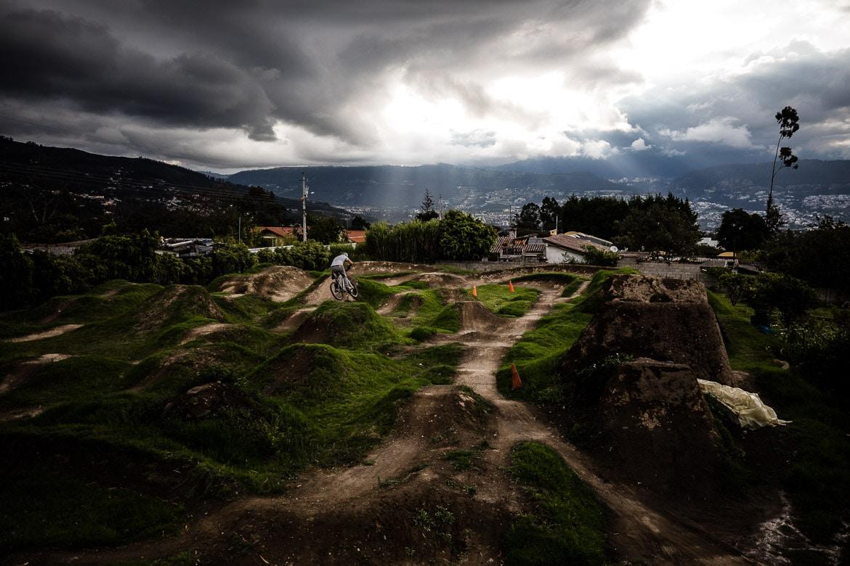 Local mountain bike guide Ecuador José Jijon's back garden pump track.