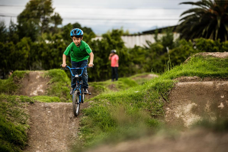 On José Jijon's, a local mountain bike guide Ecuador, pump track.
