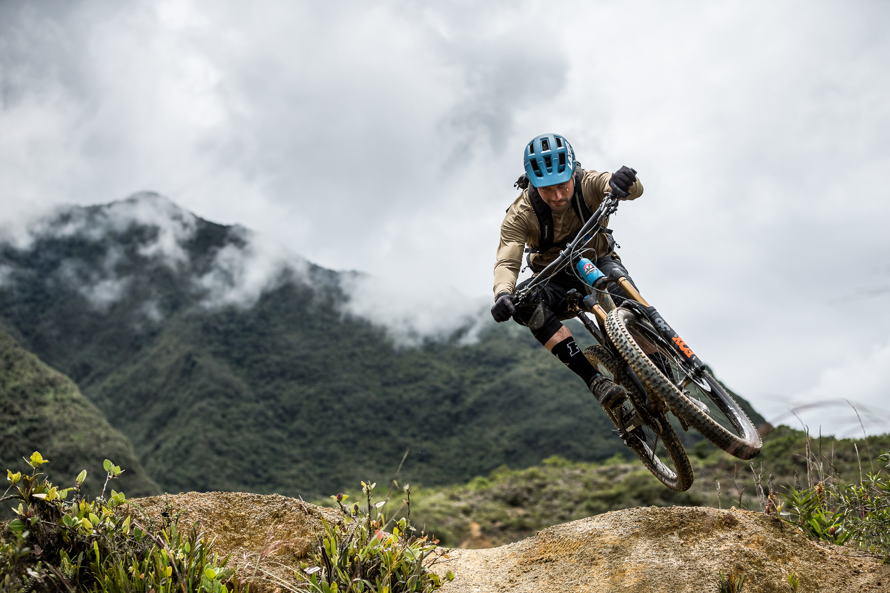 Scrubbing the natural jumps of Ibarra on our Ecuador MTB Film