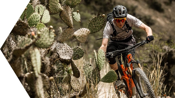 Riding past cacti in our epic Ecuador MTB Film