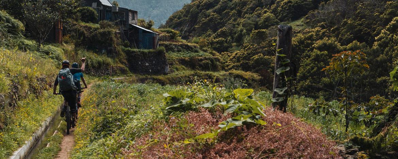 EWS Travel Madeira - riding past the levadas on enduro trails