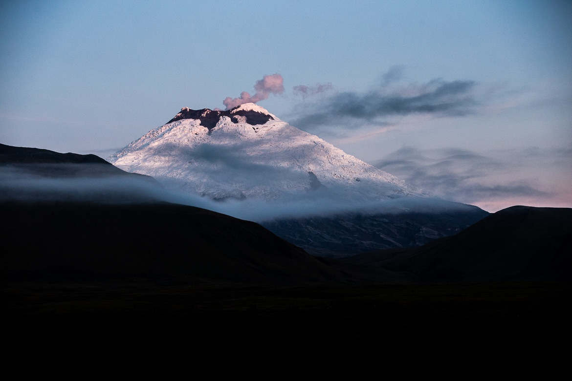 Epic views of Cotopaxi on our Mountain biking Ecuador adventure