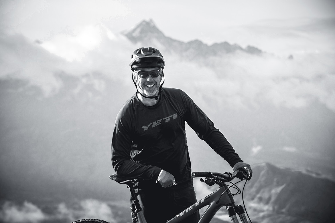A portrait of Chris Conroy to accompany 10 questions with Yeti Cycles President Chris Conroy interview