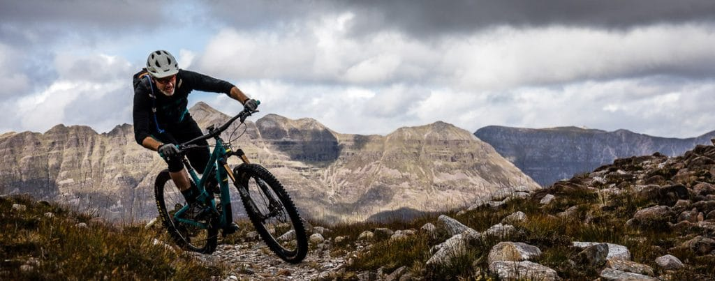 Riding in the hills of Torridon during our 10 questions with Yeti Cycles President Chris Conroy interview