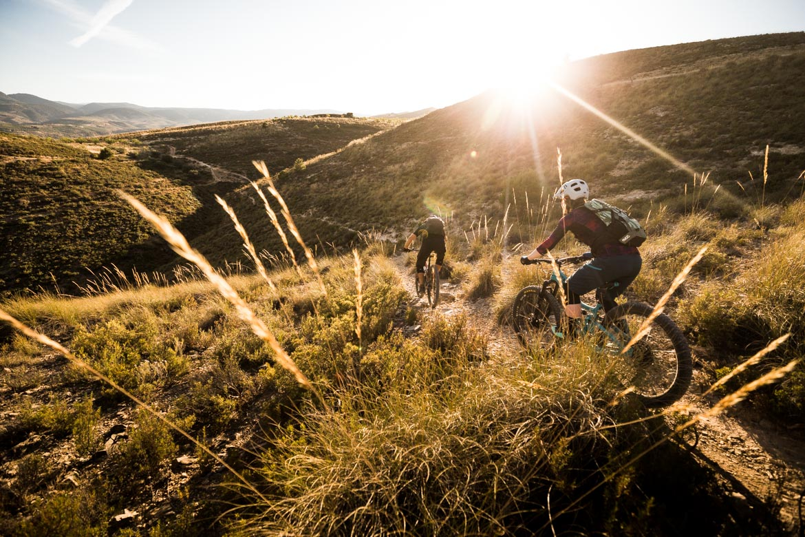 It's all down from here - Mountain bike tour Spain