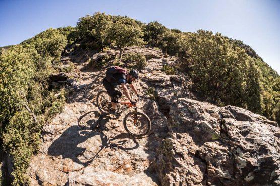 Rocky slabs - Mountain bike tour Spain