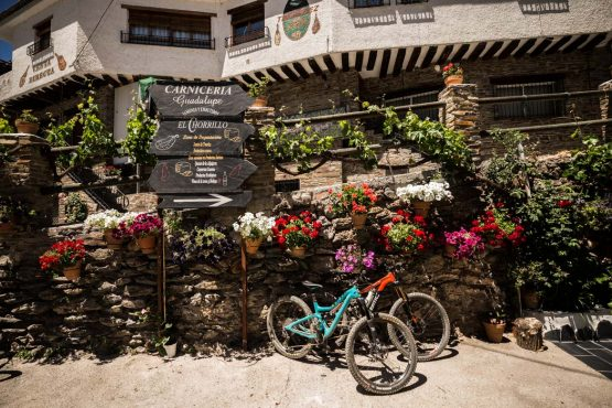 Bikes at the lunch stop - Mountain bike tour Spain