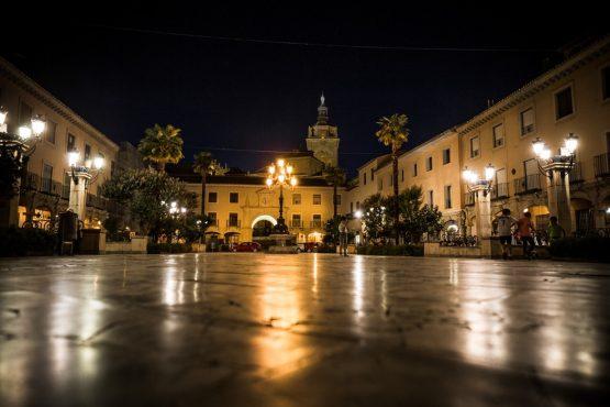 The plaza in Guadix - Mountain bike tour Spain