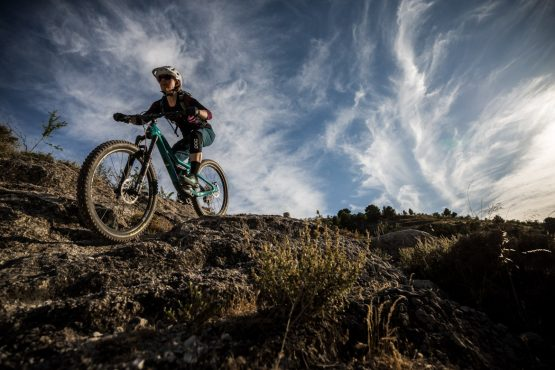Chasing the light on a Mountain bike tour Spain