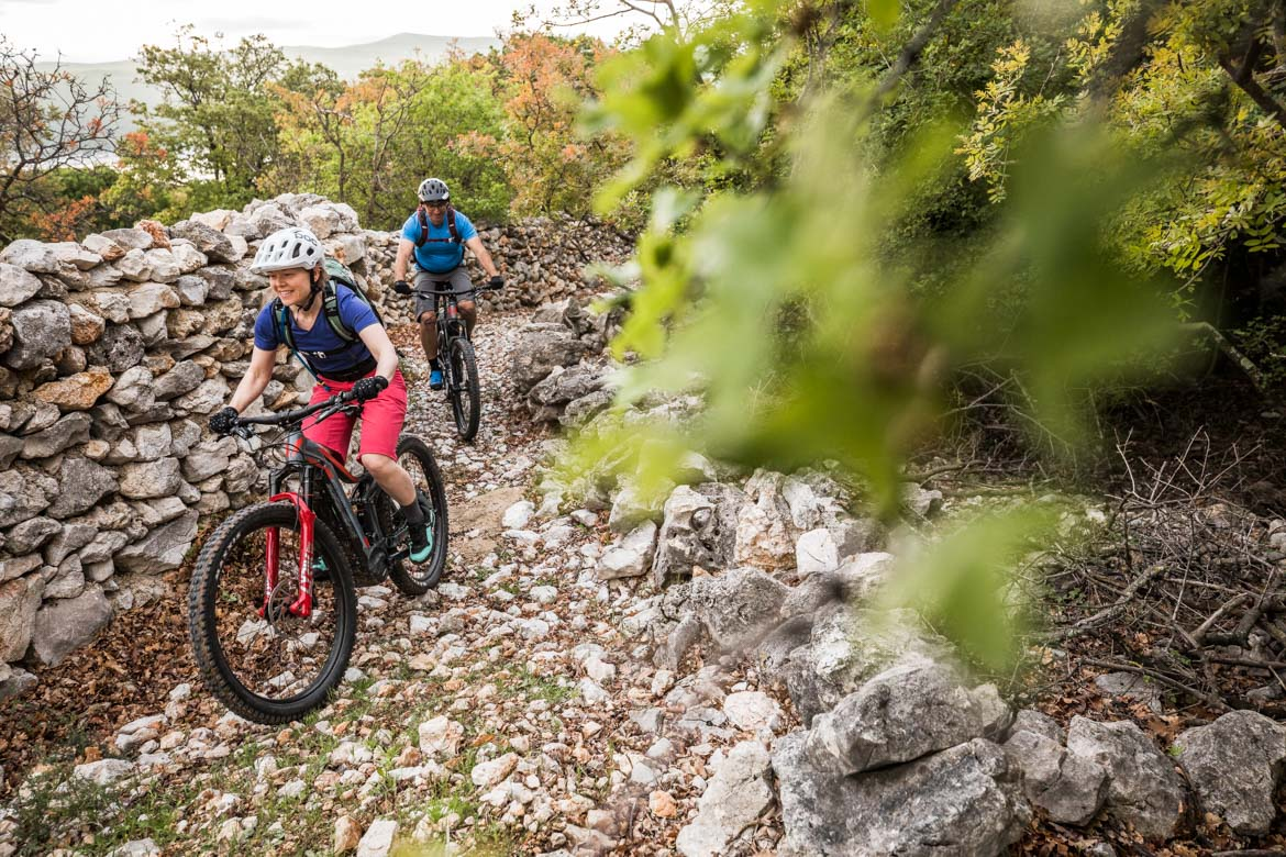 Ricky trails on E-MTB tour of Croatia