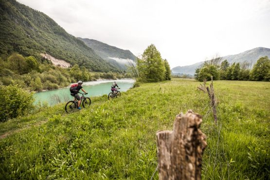 E-MTB tour of Slovenia riverside trails