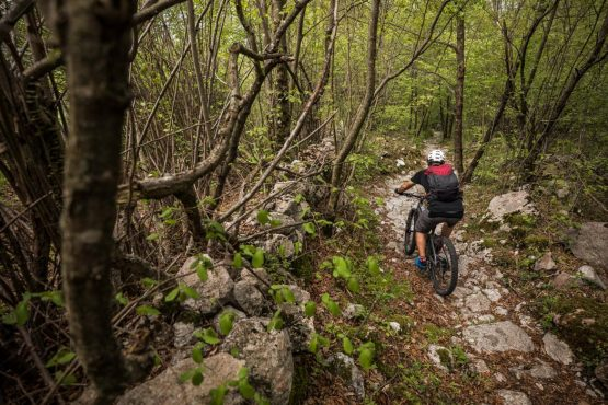 E-MTB tour of Slovenia suitably technical trails