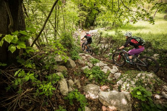 E-MTB tour of Slovenia singletrack trails