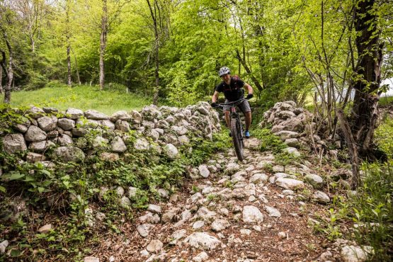 Limestone trails on the E-MTB vacation in Slovenia