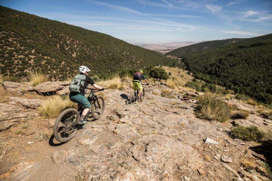 E-MTB tour of Spain rocky slabs