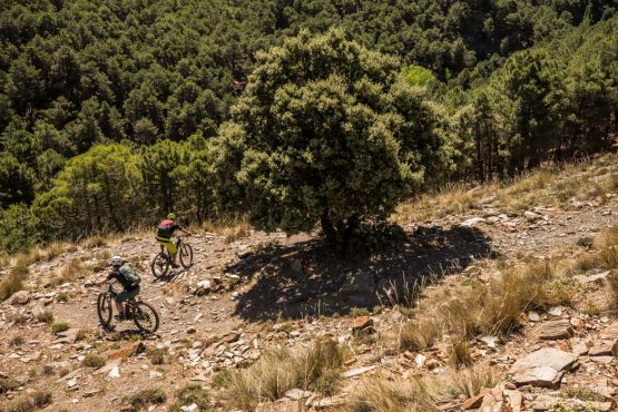 Getting steep on the E-MTB tour of Spain