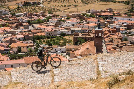 Climbing to the castle E-MTB tour of Spain