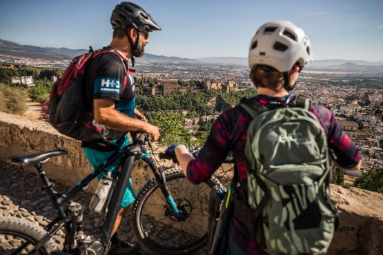Views of Granada on our E-MTB tour of Spain