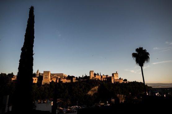 E-MTB tour of Spain sun setting on Andalucía