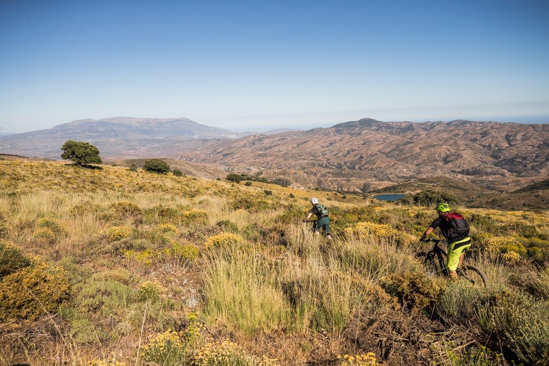 Wide vistas on a E-MTB Tour Spain
