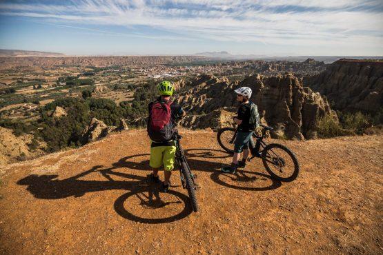 E-MTB tour of Spain arid views