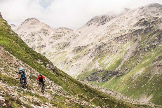 High above Livigno E-MTB Tour In Switzerland