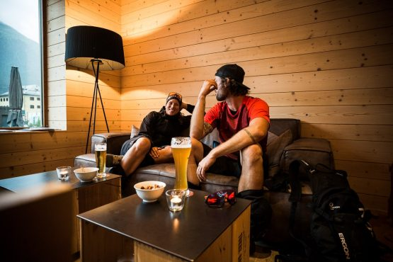 After rider beers on a E-MTB Tour In Switzerland