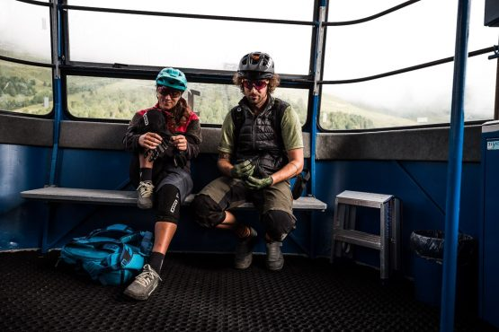 Getting ready to rip on a E-MTB Tour In Switzerland