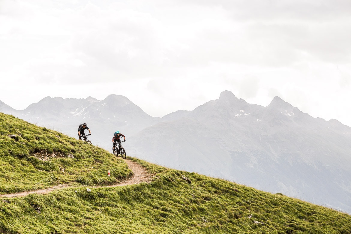 Epic descents on a E-MTB Tour In Switzerland