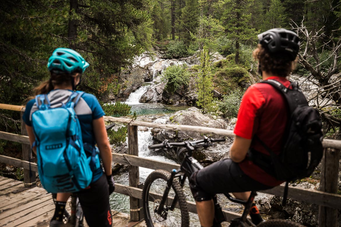 Taking in the scenery on a E-MTB Tour In Switzerland in photos