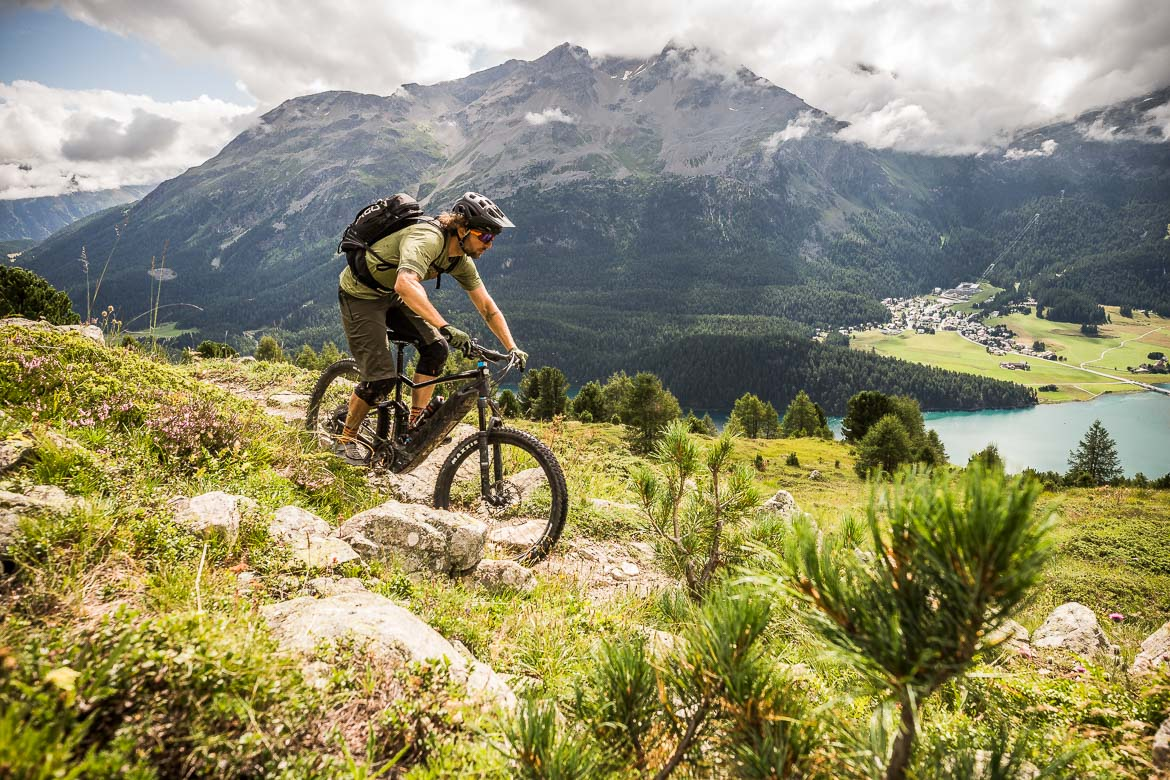 Local guide Dave on our E-MTB Tour in Switzerland